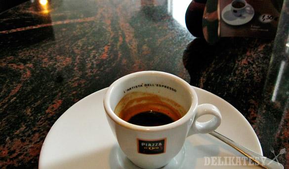 Odpité espresso