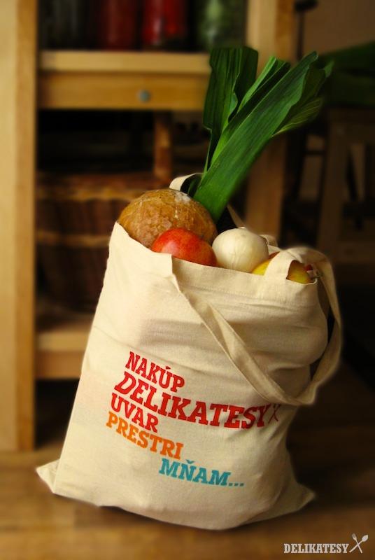 Plátená nákupná taška Delikatesy