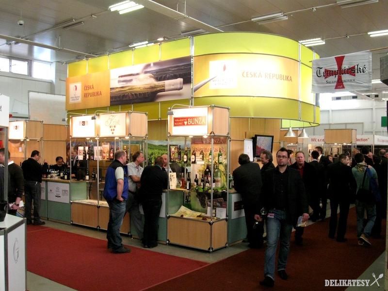 Stánky Českej republiky a tamojších vinárov