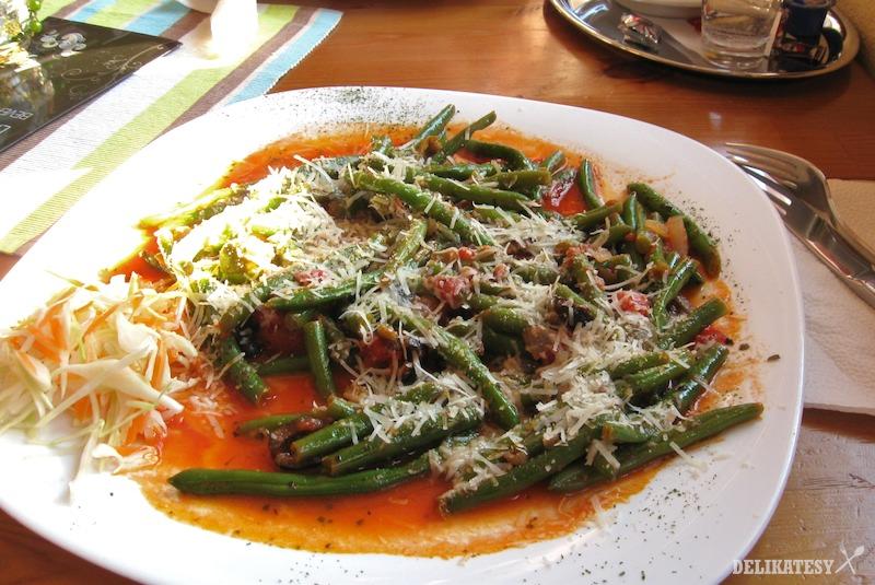 Zelené fazuľky na taliansky spôsob