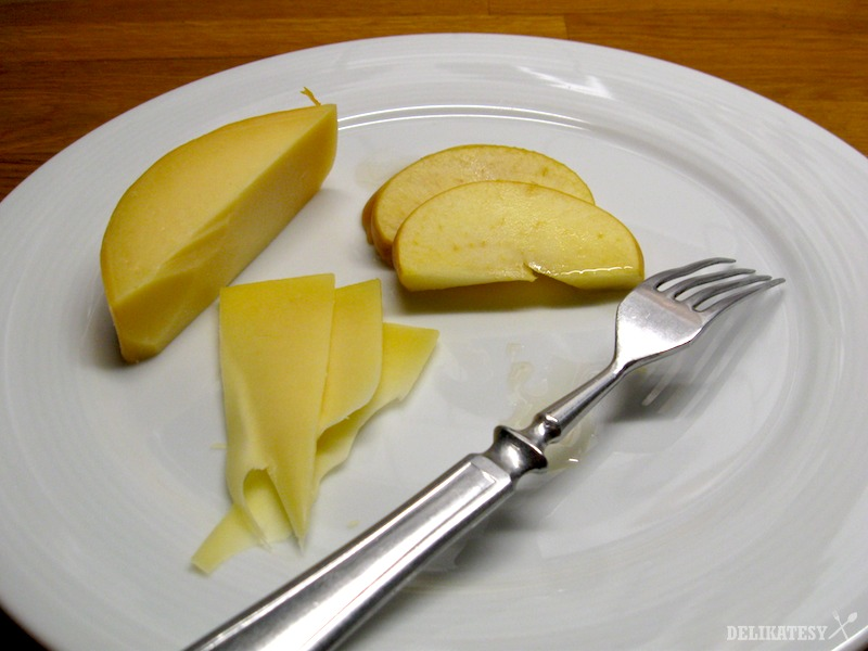 Údené jablká s medom a goudou