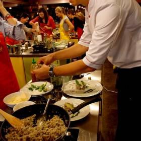 Finálne aranžovanie jedla