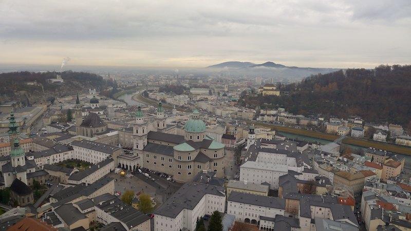 Výhľad na Salzburg