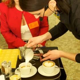 Cappuccino pripravované priamo pred porotcami