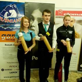 1. Lukáš Podbehlý, 2. Ivana Siekelová a 3. Ivana Krajcsovicsová.