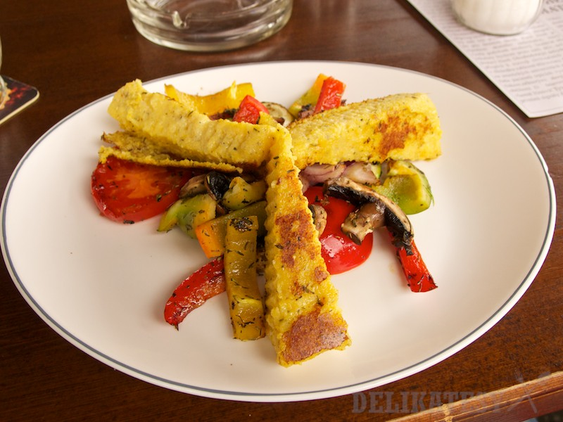 Polenta s grilovanou zeleninou