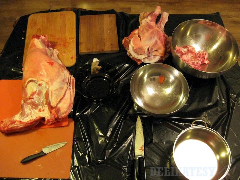 Porcovanie jahňacieho mäsa