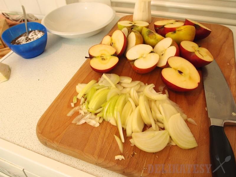 Cibuľa a jabĺčka