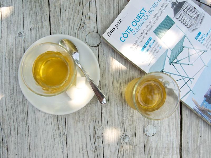 Zelený čaj a mäta