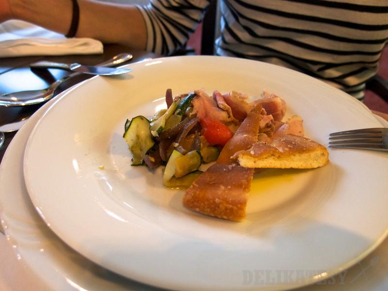 Studené predjedlo z talianskeho degustačného menu