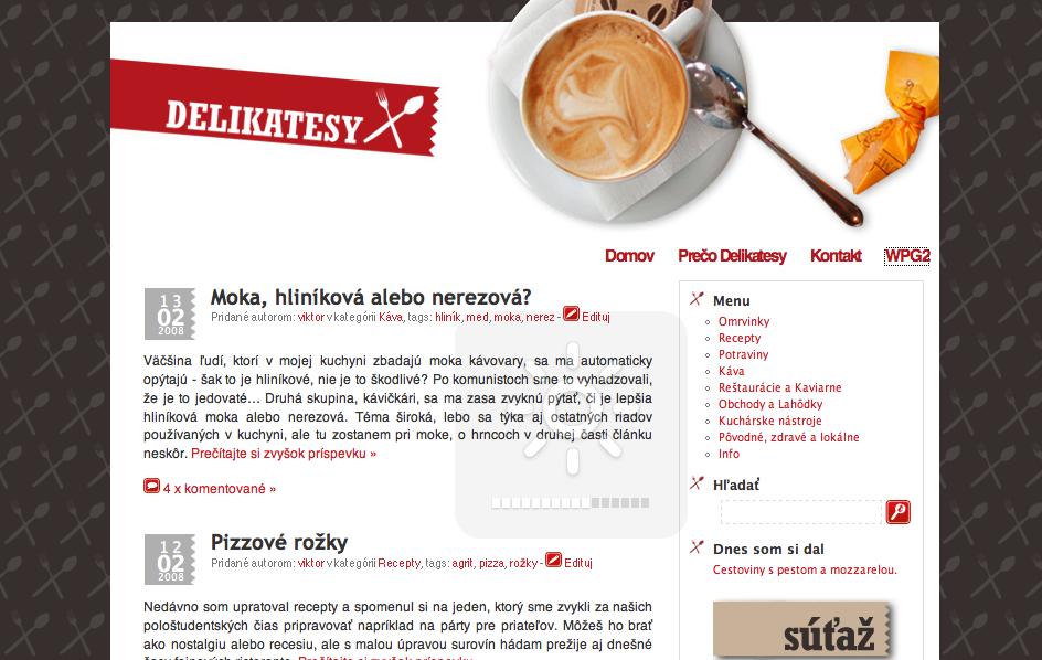 Delikatesy.sk v roku 2008