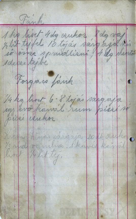 Pôvodný recept po prababke z Nitry