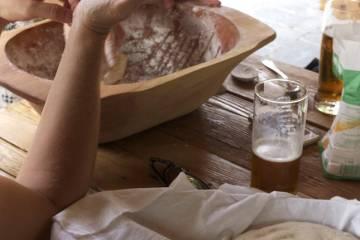 Zarábanie cesta na kváskový chlieb