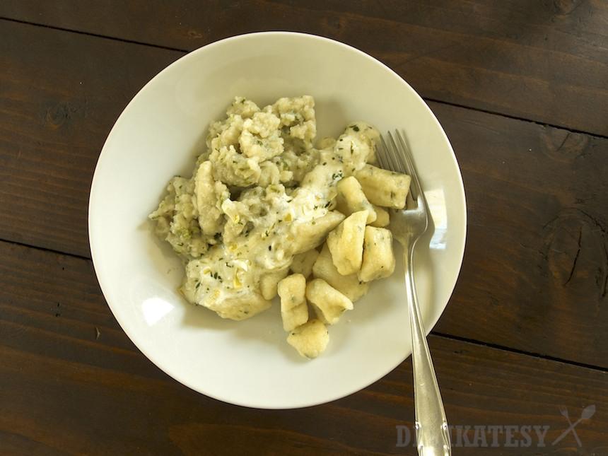 Žihľavové noky so surových aj varených zemiakov