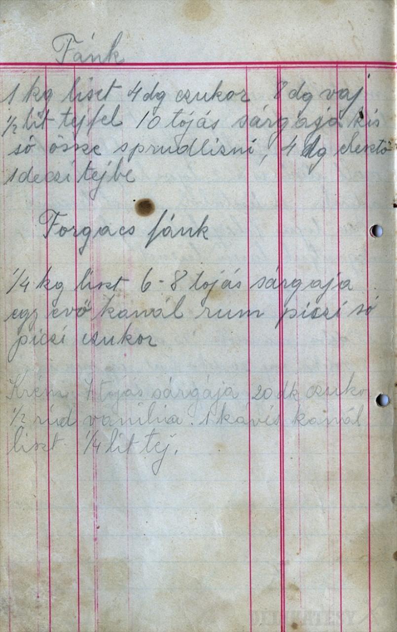 Pôvodný recept po prababke
